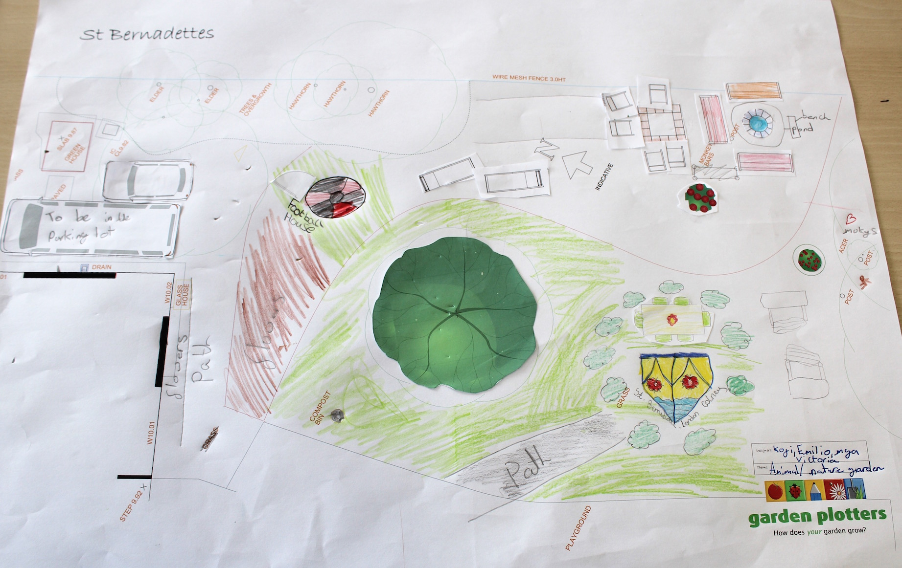 one of the Year 6 garden designs