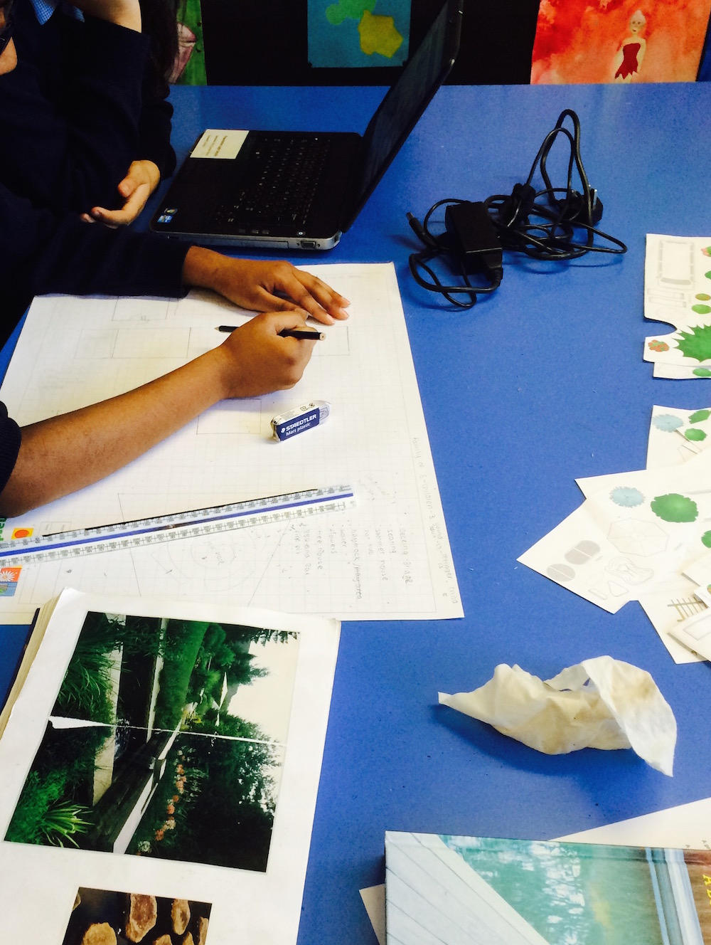 Designing gardens with Year 8  St Bernard's