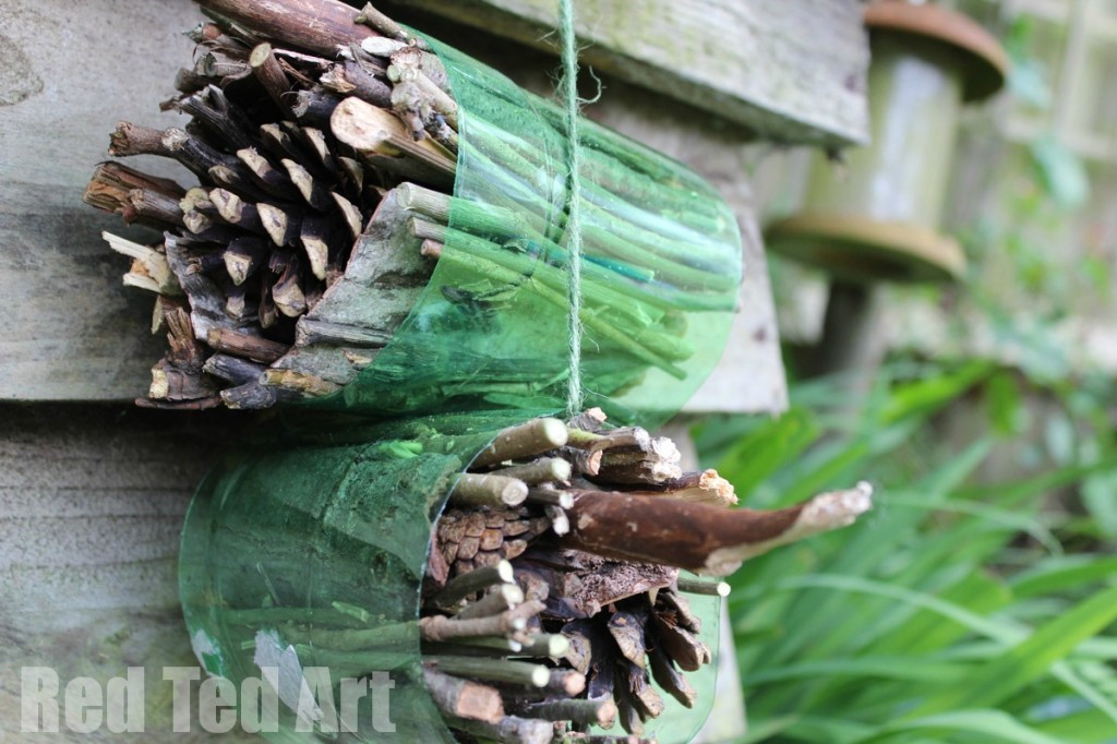 simple insect hotel from recycled materials